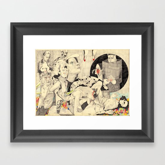 Mörder Framed Art Print
