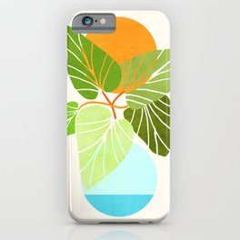 Tropical Symmetry II / Abstract Sunset Landscape iPhone Case