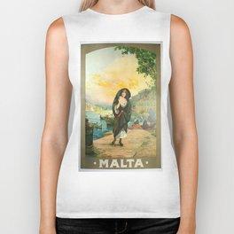 Vintage poster - Malta Biker Tank