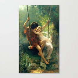 Spring by Pierre Auguste Cot Canvas Print
