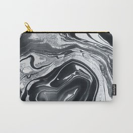 Marble in Black Ink Carry-All Pouch