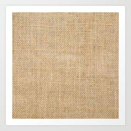 Burlap Fabric Art Print