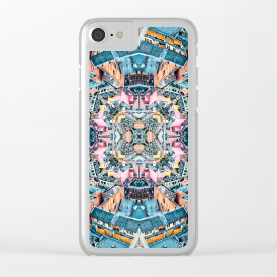 City In A Circle Clear iPhone Case