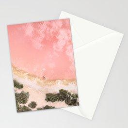 iOS 11 Rose Gold iPad background Stationery Cards