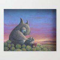big poppa Canvas Prints featuring Poppa Bear by Hayley Welsh