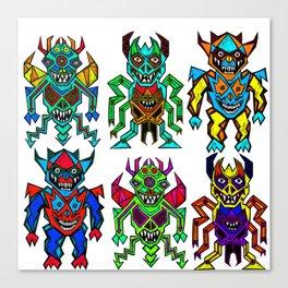 Monstagons Canvas Print