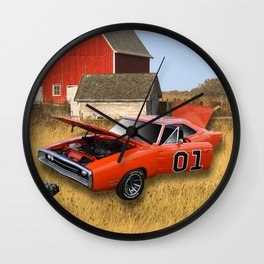 The Dukes of Hazard General Lee Wall Clock