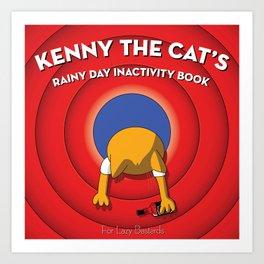 Kenny the Cat Art Print