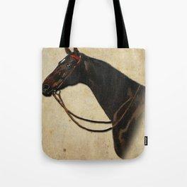 Vintage equestrian horse portrait Tote Bag
