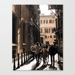 The Tourists Canvas Print