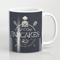 bacon Mugs featuring Bacon Pancakes by Victor Vercesi