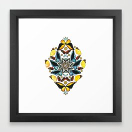 Butterfly Kaleidoscope Framed Art Print
