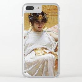John William Waterhouse - Cleopatra Clear iPhone Case