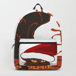 Le Chat Noel Christmas Vector Backpack