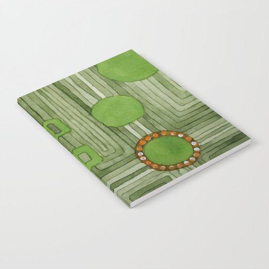 Embedded in Green Notebook
