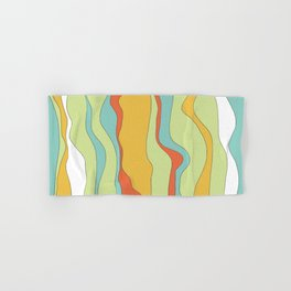 Curly lines of colour pattern Hand & Bath Towel
