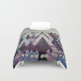 Happy New Year cat 116 Duvet Cover