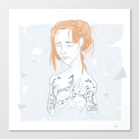 sansa Canvas Prints featuring Porcelain by laurarts