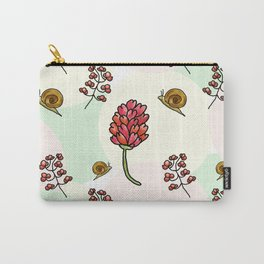 red flowers and snails pattern Carry-All Pouch