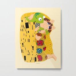 Klimt muppets Metal Print