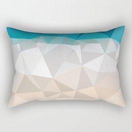 Low poly beach Rectangular Pillow