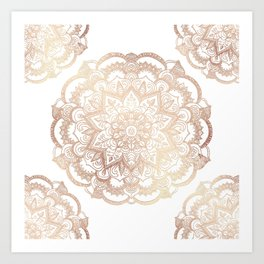 Mandala Gold Shine I Art Print