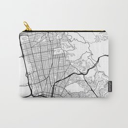 Berkeley Map, USA - Black and White Carry-All Pouch