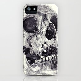 Skull pencil drawing iPhone Case