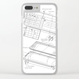 Korg MS-10 - exploded diagram Clear iPhone Case
