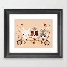 Tandem Ride Framed Art Print
