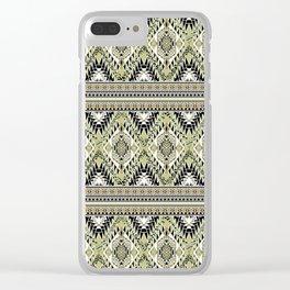 safari aztec Clear iPhone Case