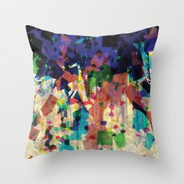 Confetti- digital composition Throw Pillow