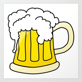 Cartoon Beer Art Print