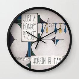 Monkey in a Suit Wall Clock