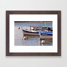 French boats - St Marc 6976 Framed Art Print