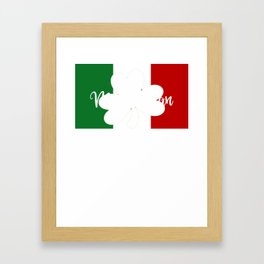 St Patricks Day McMexican Irish Mexican Framed Art Print