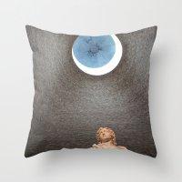 david fleck Throw Pillows featuring David by anitaa