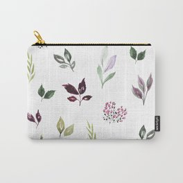 Tiny watercolor leaves Carry-All Pouch