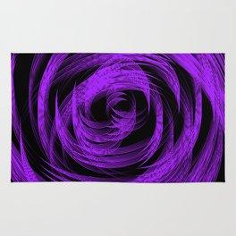 Purple Loop Illusion Rug