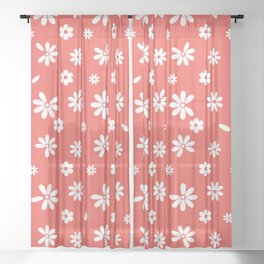 Flowers and Petals Sheer Curtain
