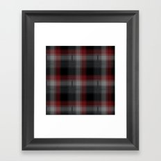 Black, Red, Lumberjack Plaid Framed Art Print