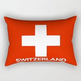 Switzerland country flag name text swiss Rectangular Pillow