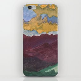 Watercolor me Mountains iPhone Skin