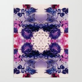 Wine & Flowers Photographic Pattern #2 Poster