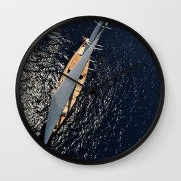 big sailing yacht Wall Clock