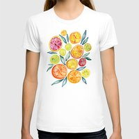 water T-shirts featuring Sliced Citrus Watercolor by Cat Coquillette