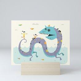 SEA SERPENT Mini Art Print