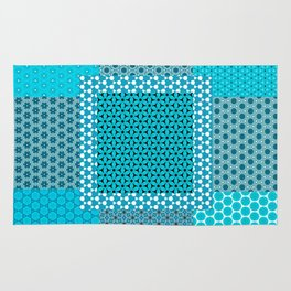 Abstract Turquoise Pattern C1 Rug