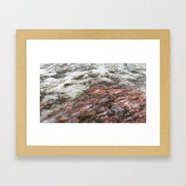 Moss Copper Rock Framed Art Print