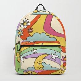 retro hippie boho print  Backpack